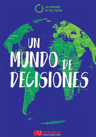 "Portada del material educativo ""Un mundo de decisiones"""