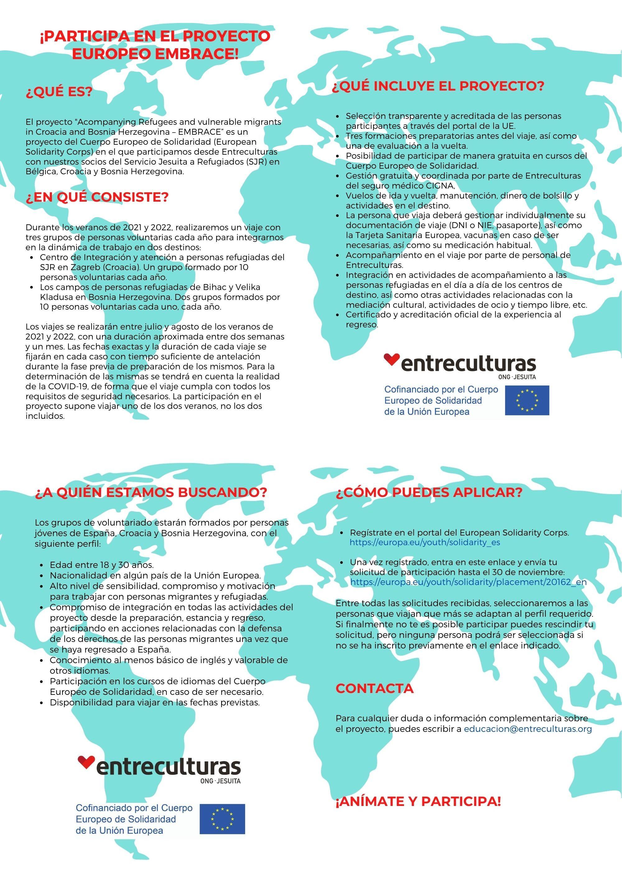 Participa en el proyecto europeo Embrace!